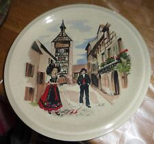 Assiette souvenir décorative Alsace - Porcelaine - Anne Ehret