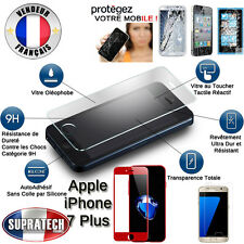 Protection Ecran Verre Trempé Face Avant Complète Rouge pour Apple iPhone 7 Plus