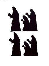 8 Sets Of 3 Kings Nativity Silhouette Die Cuts, Black