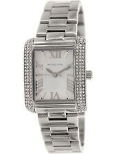 Michael Kors MK3289 Petite Emery Crystal Stainles Steel Silver Tone Ladies Watch