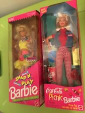 1997 Limited Edition Coca Cola Picnic Barbie & 1991 Snap-N-Play Barbie Dolls