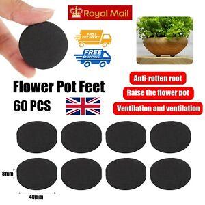 60PCS Plant Pot Feet Non-slip Invisible Rubber Plant Flower Pot Feet Garden