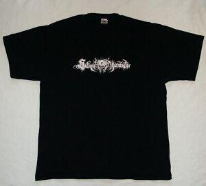 SATANIC WARMASTER Logo Black Metal Band Shirt Größe XL size official