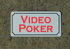 """Video Poker Metal Sign 6""""x12"""" for Casino or Bar"""
