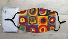Color Study: Squares with Concentric Circles face mask (Wassily Kandinsky)