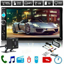 7inch#HD 2Din Touch Screen Car Stereo MP5 Player Radio Android IOS USB/TF+Camera