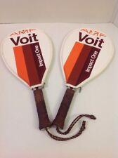 Pair 1980's AMF VOIT IMPACT ONE RACQUETBALL BALL RACQUETS 4IN WITH COVERS