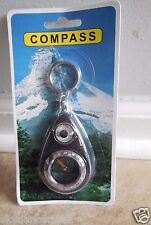Compass Key Chain Thermometer Outdoor Hiking Camping Survival Cats Rescue
