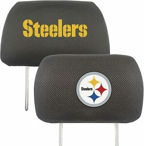 NFL Pittsburgh Steelers Head Rest Cover Double Side Embroidered Pair by Fanmats