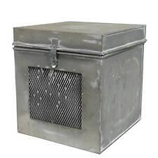 boite de decoration de cuisine campagne industriel usine loft metal fer 16x15x16