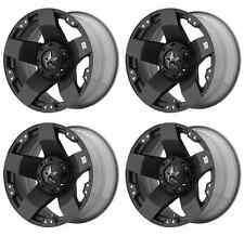 KMC XD775 ROCKSTAR XD77589080300 RIMS SET OF 4 18X9 0MM OFFSET 8X6.5 M-BLACK