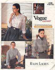 604ms Vogue Career Misses' Camisa Ralph Lauren Modelo 2136 6-10 sin Cortar