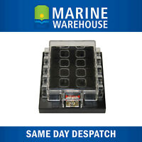 10 Way Blade Fuse Box Power Terminal W/ Identification Label Clear Cover 705509