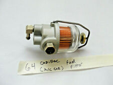 RESTORED 64 Cadillac 429 FUEL FILTER GLASS BOWL 3 PORT A/C NEW FILTER & SEAL