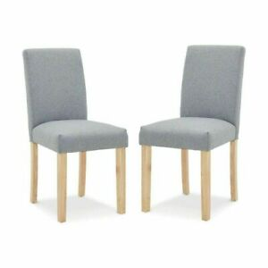 Set Of 2 Dining Chair With Elegant Upholstered Seat Kitchen Armchairs D2