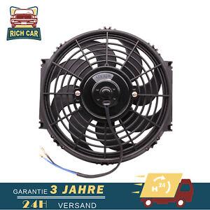 "10"" Slim Line Universal Electric Radiator Intercooler Cooling Fan 12v 80W Kits"