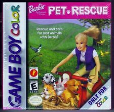 GBC Barbie Pet Patrol, 2001 Nintendo of America, Brand New & Factory Sealed