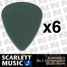 6 x Jim Dunlop Nylon Standard Greys .73mm Guitar Picks Plectrums 0.73 Grey
