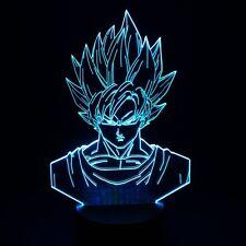 Dragon Ball Z Super Saiyan Blue Goku Action Figures 3D Table Lamp 7Color Change