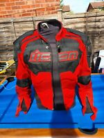 ICON TIMAX Motorcycle Jacket Anatomical Armor Titanium Protection Large Red