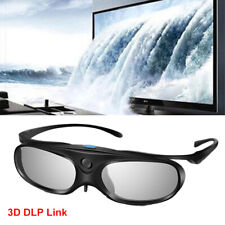3D Glasses Active Shutter DLP Link Stereo Rechargeable For Optoma DLP Projectors
