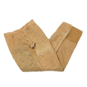 CARHARTT Double Knee Sherpa Lined Work Trousers | 40 x 30 | Utility Fleece Pants