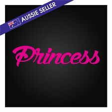 PRINCESS STICKER HOT PINK 20cm For Girl Doll Decal 4wd Car Wall Family Mini WRX