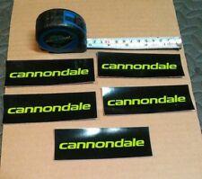 "CANNONDALE STICKER LOT OF 5 ROAD BIKE MTB CAAD LEFTY 4.5"" LOGO DECAL"