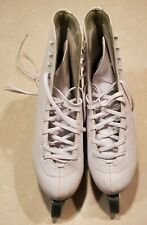 Women's ice skates, adult size 9 American Athletic Shoe white leather inline