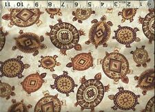 Timeless Treasures ~ Southwest Turtles Design ~ 100% Cotton Quilt Fabric BTY