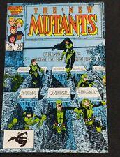 The New Mutants #38 (Marvel, 1986) Xavier's School Graveyard Cover X-Men