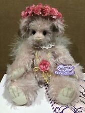 "Annette Funicello Angel Bear 12"" Jointed Ellen Christian Pink Mohair"