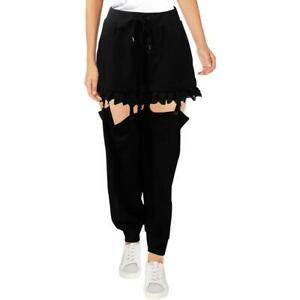 Fenty Puma by Rihanna Womens Suspender Black Fitness Jogger Pants L  5681