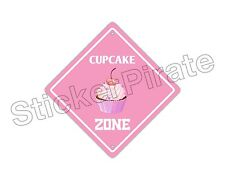 "*Aluminum* Cupcake Zone Funny Metal Novelty Sign 12""x12"""