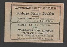 AUSTRALIA 1938 2/- BLACK ON GREEN PART BOOKLET SB27.
