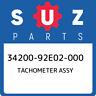 34200-92E02-000 Suzuki Tachometer assy 3420092E02000, New Genuine OEM Part