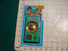 vintage --MOC---ROULETTE mini mate game on card, UNUSED, flit the switch,