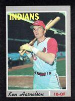 1970 Topps #545 Ken Harrelson Cleveland Indians Semi-High # Baseball Card VG/EX+