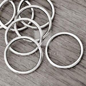 30pcs Tibetan  Silver Charm Pendant Link Connector DIY Jewelry Ring 24x24x2mm BW