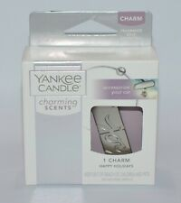 YANKEE CANDLE CHARMING SCENTS JOY HAPPY HOLIDAY CHARM METAL BANGLE CAR ACCESSORY