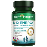 B-12 Energy BerryMelt w Super Fruits - 30 Tabs Purity Products Folate Vitamin D