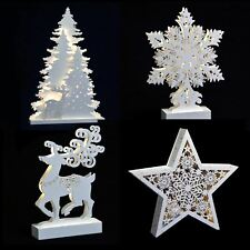 new christmas white light up decoration reindeer trees star snowflake battery op