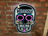 CUBANISTO SKULL LED WALL HANGING NEON STYLE SIGN brand new pub bar MANCAVE