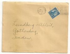 COVER USA UNITED STATES TO SWEDEN HUD TERM STA  N.Y. 1 1929. L371