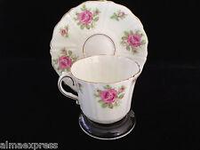 Old Royal England China #2566 Pink Roses Bud Gold Trim TEA CUP AND SAUCER SET