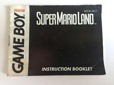 Super Mario Land Nintendo Gameboy Original Game Instruction Manual Booklet