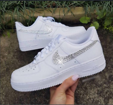 💎 Lucid Ice Nike Air Force 1 white Crystal Customs 🥶