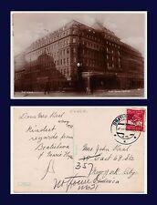 EASTERN EUROPE SLOVAKIA BRATISLAVA REAL PHOTO HOTEL SAVOY POSTED 4 AUGUST, 1931