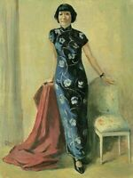 """perfect 24x36 oil painting handpainted on canvas""""a chinese woman""""@N15782"""