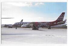 Overseas National Airways DC-8 On Ground Tarmac Near Jets Aircraft Postcard